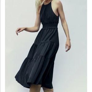 Zara Elastic Waistband Halter Dress